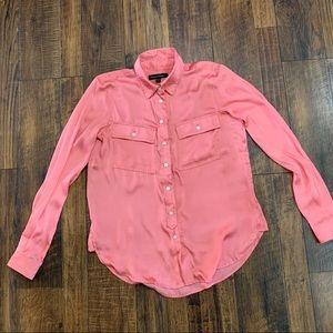 Satin button up shirt, worn once